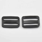 """50 Pcs 1.5"""" 38mm Adjustor Triglides Slides for Buckles Leather strap Belt Webbing Black"""