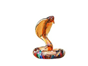 TINY CRYSTAL Sanke HAND BLOWN CLEAR GLASS ART Snake FIGURINE ANIMALS COLLECTION GLASS BLOWN #002