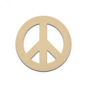 46cm Peace Sign Unfinished DIY Wooden Craft Cutout to Sell Stacked