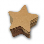 500 Pieces Brown Star Shape paper tags, plank paper Label 7x7cm