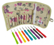 Crochet Hooks - Haven for Hands Crochet Hook Set has Ergonomic Crocheting Needles with US and Metric sizes - Cloth Case - Zipper Pocket - Scissors and Supplies - Create with Yarn Today!