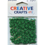 Trimits PP94 | Green Metallic Pom Poms | Toy Making | 7mm | 100 pack