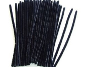 Trimits ST25 | Black Chenille Jumbo Pipe Cleaners | 12mm x 30cm | 50 pack
