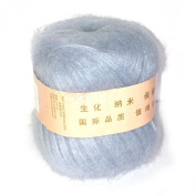 Celine lin One Skein Soft & Warm Angola Mohair Cashmere Wool Knitting Yarn 50g,Ice blue