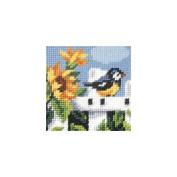 Orchidea ORC.9604 Summertime Blue tit Beginners Tapestry Mini-Kit 16½cm