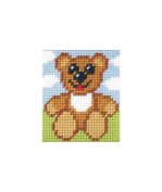 Orchidea ORC.9706 | Zweigart Canvas Happy Ted Beginner Tapestry MiniKit 17x20½cm