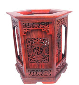 High-grade Siam Rosewood Chinese Writing Brush Pot Pen & Pencil Container/holder/case with Box Home & Office Decor