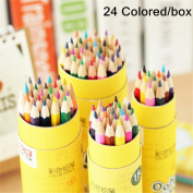 Zebratown Water Soluble Wooden Coloured Pencils Set with Case Drawingn Watercolour Pencils