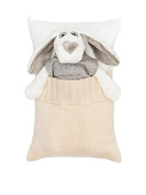 Milo and Lilirose Sleeping Cushion with Knit Pocket, Cream