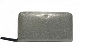 Kate Spade Mavis Street Neda Zip Around Silver Glitter Wallet Wlru2388