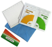 GGI International LCD Screen Care Kit, with Overlays, Care System Microfiber Cloth / Wipes Pack of