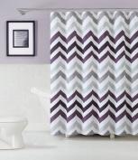 GoodGram® Chevron Cotton Fabric Shower Curtain - Assorted Colours