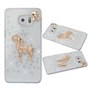 KAKA(TM) 3D Handmade Rhinestone Bling Crystal Case Cover Golden Sheep Pattern For Samsung Galaxy S6