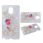 KAKA(TM) 3D Handmade Rhinestone Bling Crystal Case Cover Rose Pattern For Samsung Galaxy S5 Mini