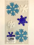 Snowflakes Gel Window Clings 1 Sheet 6 Clings