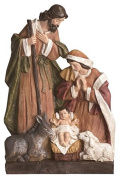 Mary Joseph and Baby Jesus with Donkey Sheep Christmas Nativity Scene Figurine