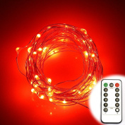 ER CHEN(TM) 8 Lighting Model Indoor and Outdoor Waterproof Battery Operated 60 LED String Lights on 6.1m Long Ultra Thin Copper String Wire with 13 Key Remote Control