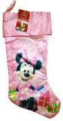 Disney Minnie Mouse Slinky 50cm Satin Fully Printed Christmas Stocking