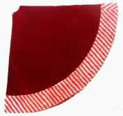 120cm Santa's Best Dark Red Velvet Tree Skirt