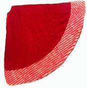 120cm Santa's Best Christmas Red Velvet Tree Skirt