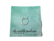 The Vintage Pearl Everlasting Sterling Silver Charm Necklace