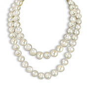 """12-13mm White Freshwater Cultured Pearl Endless Necklace, 36"""""""