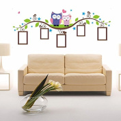 YaRich DIY Owl Photo Frame Removable Wall Decal Sticker Home Decoration