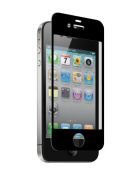 Znitro Glass Screen Protector For Apple iPhone 4/4s - Retail Packaging - Black Bezel