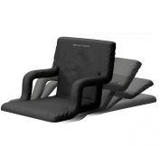 Deluxe Wide Stadium Seats Chairs for Bleachers or Benches - Enjoy Extra Padded Cushion Backs and Armrests - 6 Reclining Custom Fit Sport Positions - Portable Easy to Carry Straps - Lifetime Warranty