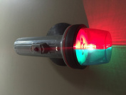 MARINE BOAT RED & GREEN PORTABLE BATTERY OPERATED LIGHT-BOW SUCTION 2 D-CELL
