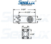SeaLux Marine Stainless Steel Swivel Hasp and Staple with Lock and 2 keys