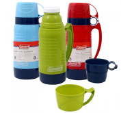 Coleman 0.9l Plastic Vacuum Bottle with 2 Cups - Colour May Vary
