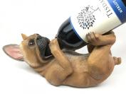 Canine Pedigree French Bulldog Frenchies Wine Oil Bottle Holder Figurine Kitchen