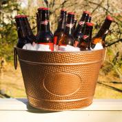BREKX Hillcrest Copper Finish Pebbled Beverage Bucket