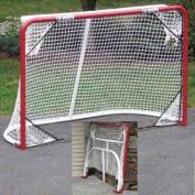 EZGoal Monster Steel Tube Heavy-Duty Official Regulation Folding Metal Hockey Goal Net, 1.8m x 1.2m, Red