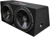 Audiopipe Super Bass Combo pack Dual 30cm Loaded Box Amp Amp Kit