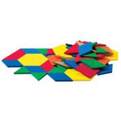 ETA Hand2Mind GIant ManipuLite Foam Floor Pattern Blocks, Set of 49