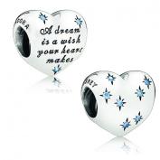 Pandora Charm Disney Cinderella's Dream with Light Blue Cubic Zirconia 791593cfl