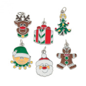 Happy Holidays Enamel Charms (3 Dz.) - Christmas Decorations