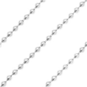 Silver Plated 1.2mm Ball Chain - Sold Bulk By The Foot