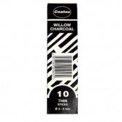 Coates Willow Charcoal Small Box Thin 10 sticks per box