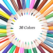Georgie Art Painting Drawing Sketch Marker 36 Assorted Colour Exclusive Wooden Colourful Pencils for Secret Garden Adult Colouring Books Highlighter Scrapbooking,Best Christmas Gift, Set of 36