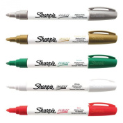 Sharpie Medium Point Oil Based Christmas Paint Marker 5 Pack Kit