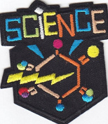 """""""SCIENCE"""" PATCH-Iron On Embroidered Patch/School, Learning, Chemistry"""