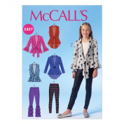 McCall Pattern Company M7042 Girl's/Girl's Plus Vests, Cardigans and Leggings Sewing Template, GRL