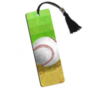 Baseball Fan Printed Bookmark with Tassel