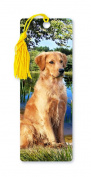 Dimension 9 3D Lenticular Bookmark with Tassel, Golden Retriever, Pet Breed Series