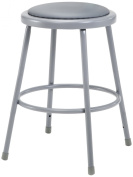 National Public Seating 6424-CN Steel Stool with 60cm Vinyl Upholstered Seat, Grey