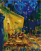 Drawing your painting, paint by number famous painting Coffee House by Van gogh 41cm X 50cm inches Frameless.