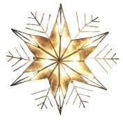Kurt Adler 10-Light Capiz and Wire Snowflake Christmas Treetop, 25cm , Silver